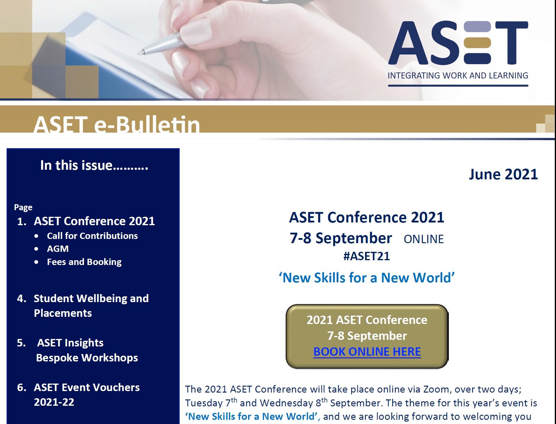 ASET Members' e-Bulletin June 2021 - ASET
